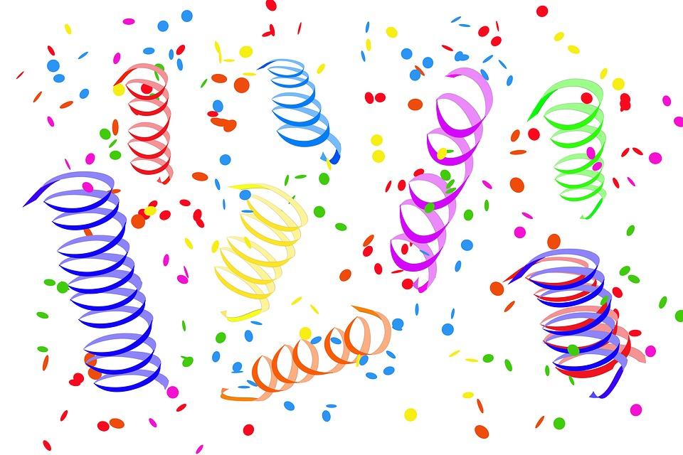 Konfetti Luftschlangen Party Kostenloses Bild auf Pixabay 960x640