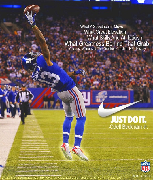 Odell Beckham Jr Nike What A Catch Deviant 13 by Keiffer Boy on 540x635