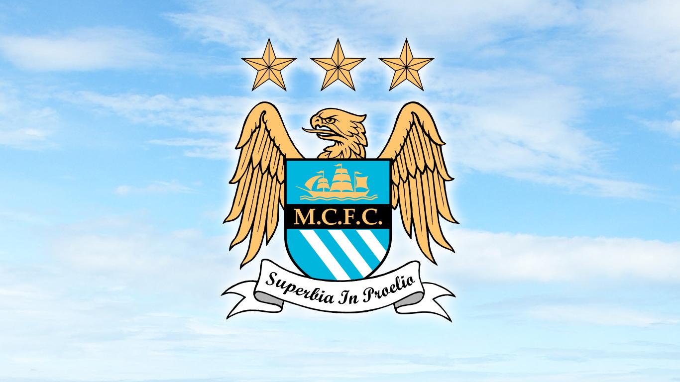 Wallpaper Logo Manchester City Manchester City 1366x768