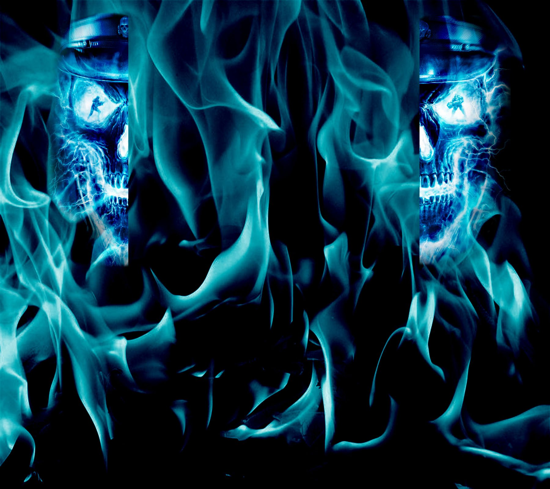 reupload Blue Skull youtube background by thepoweroffive 1800x1600
