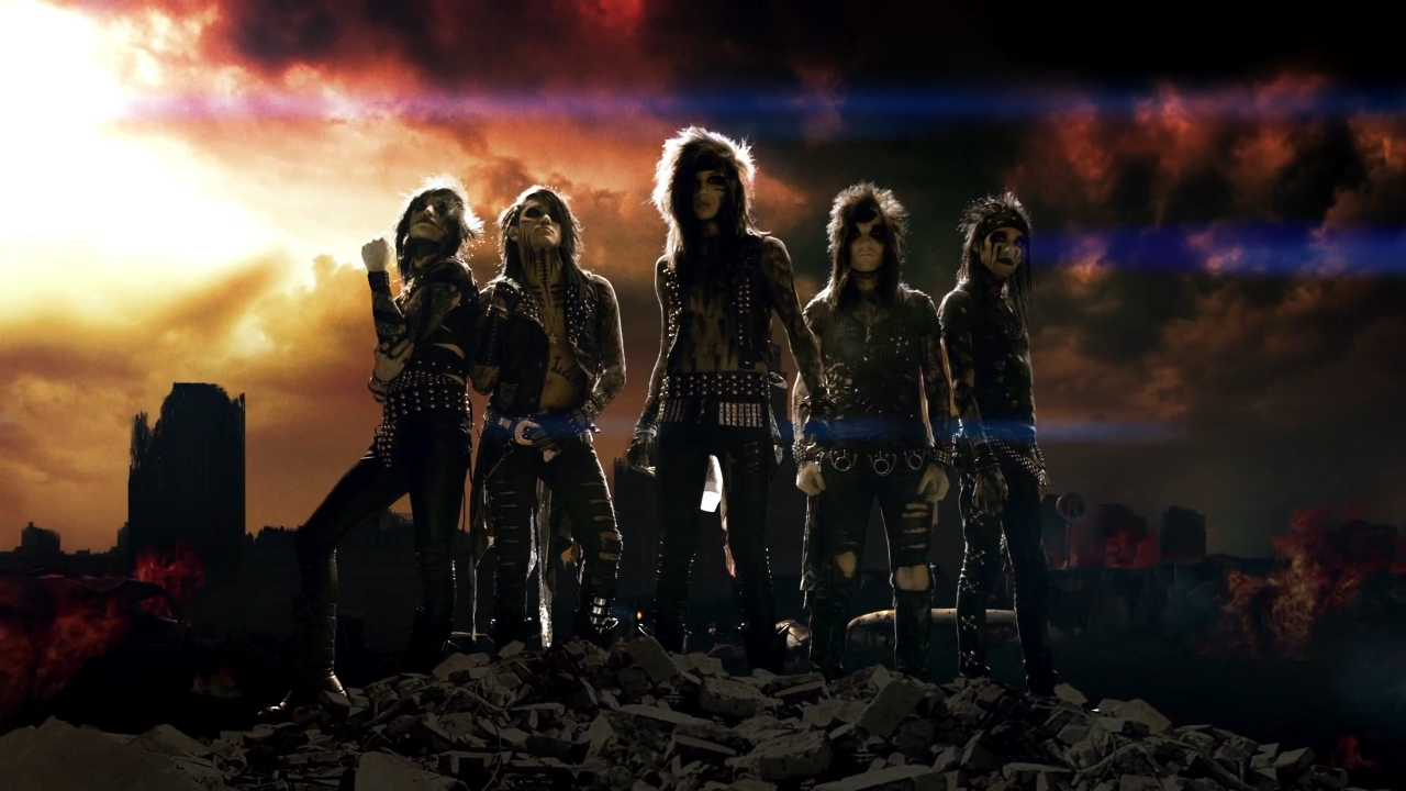 Black Veil Brides   Wallpapers 1280x720 The World In Flames O 1280x720