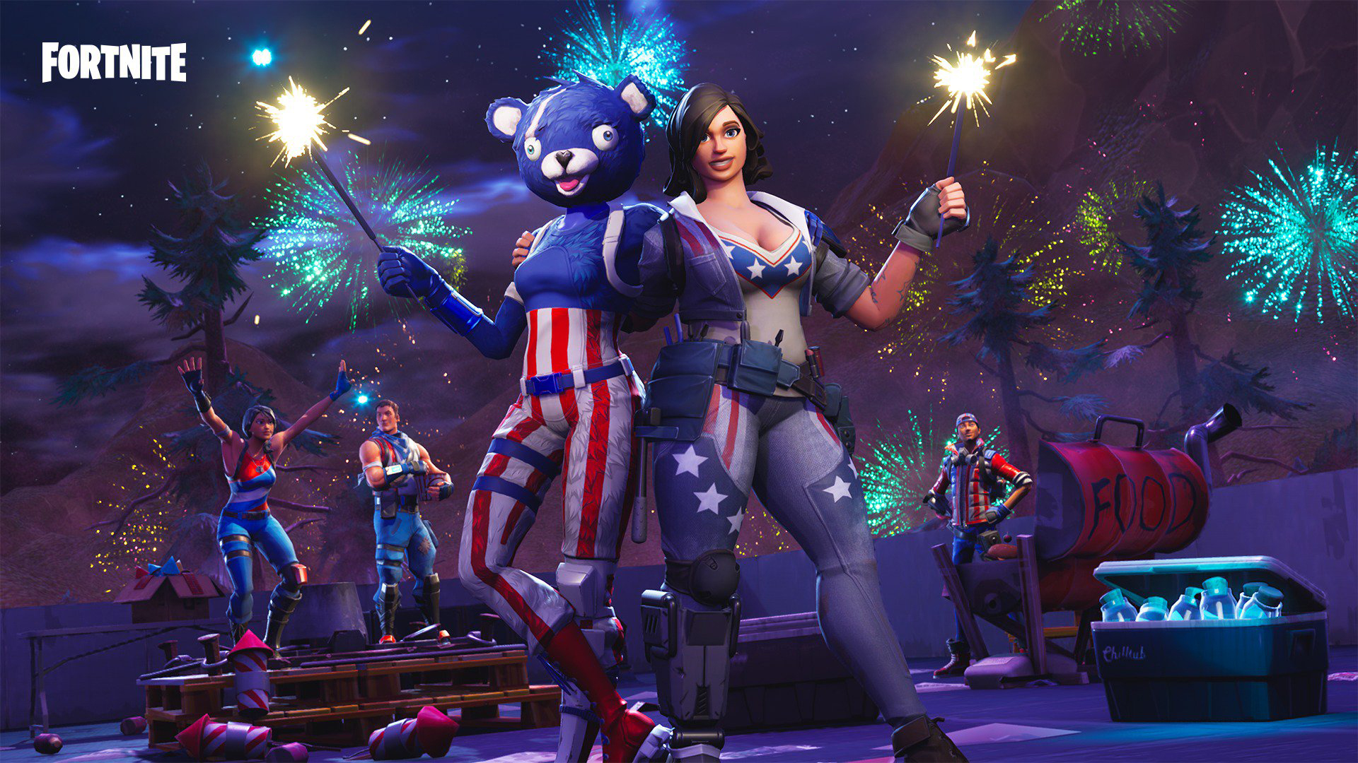 Fortnite Game Backgrounds 4th July 4027 Wallpapers and Stock 1920x1080