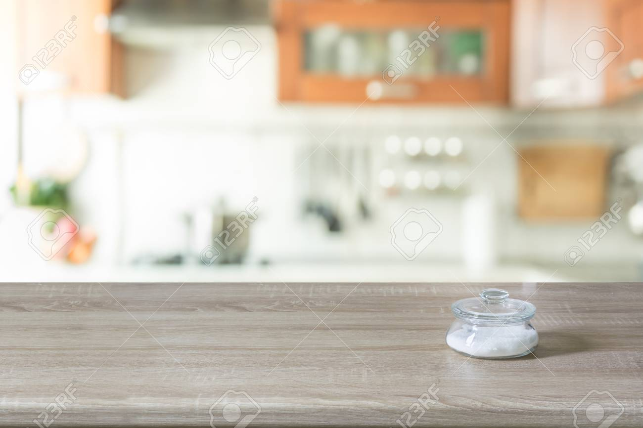 Blurred Background Modern Kitchen With Tabletop And Space For 1300x866