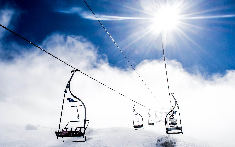 Mountain Ropeway Ski Resort Wallpapers HD Wallpapers 2880x1800