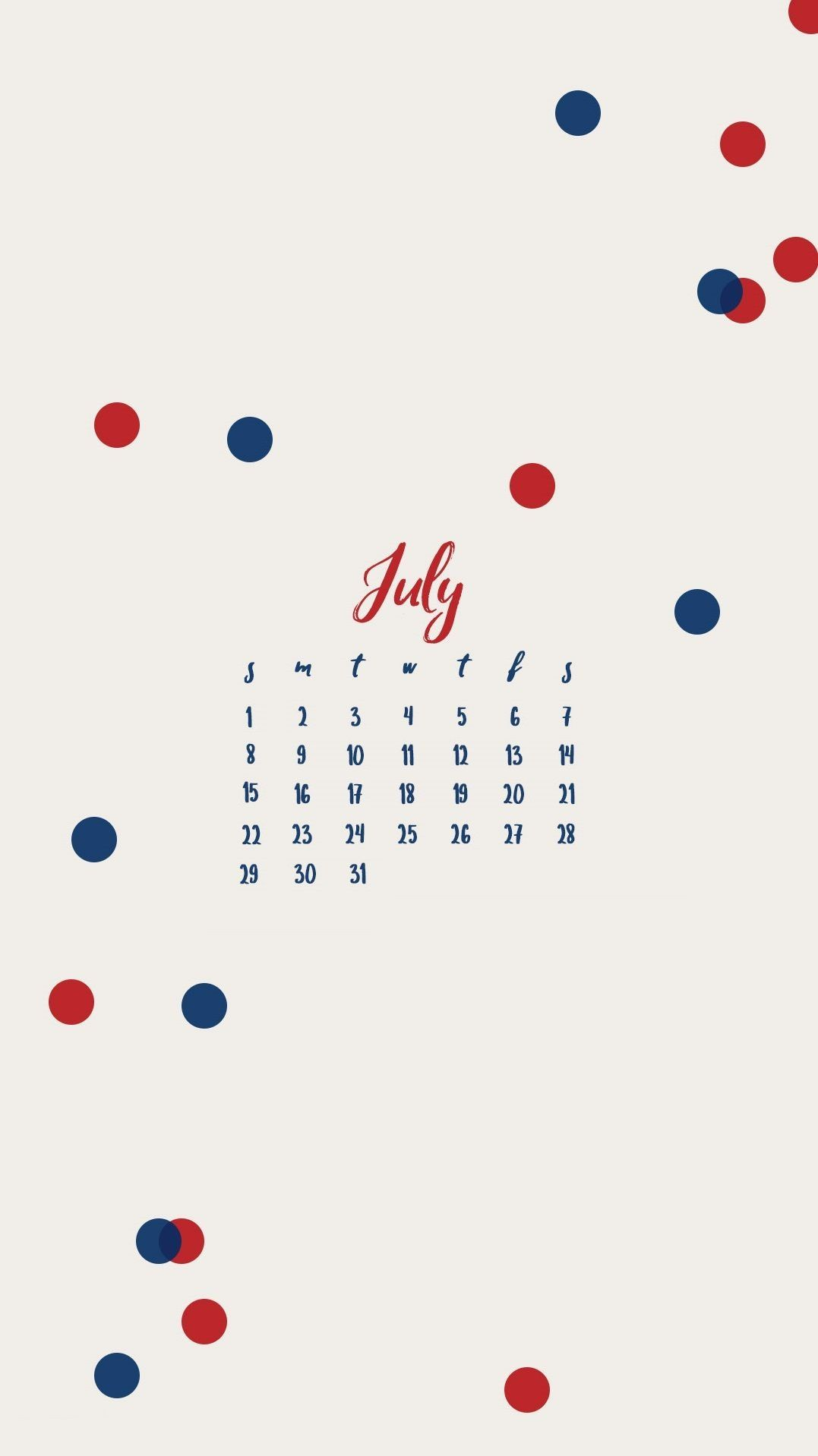 july 2019 iphone calendar designJuly 2019 iPhone Calendar 1077x1918