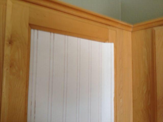 Makeover Tutorial    using beadboard wallpaper on cabinet doors 640x480