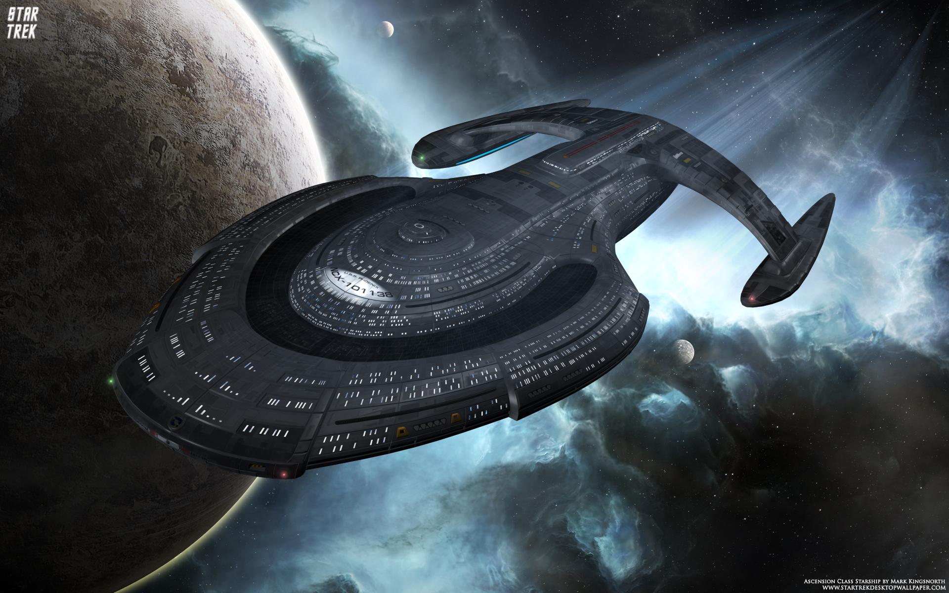 Starship Star Trek computer desktop wallpaper pictures images 1920x1200