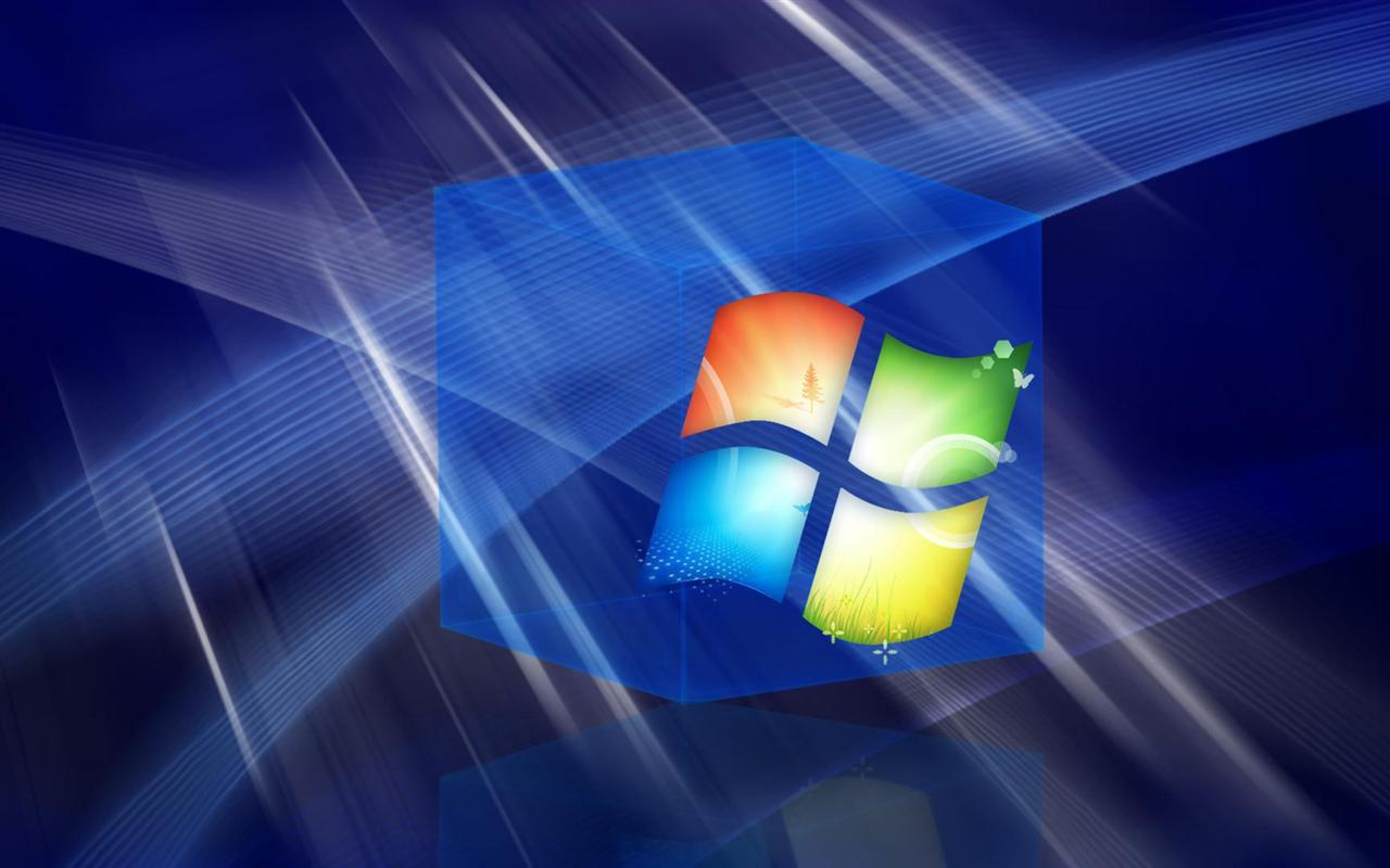 1280x800 Hd 3d Blue Windows Cube desktop backgrounds wide 1280x800