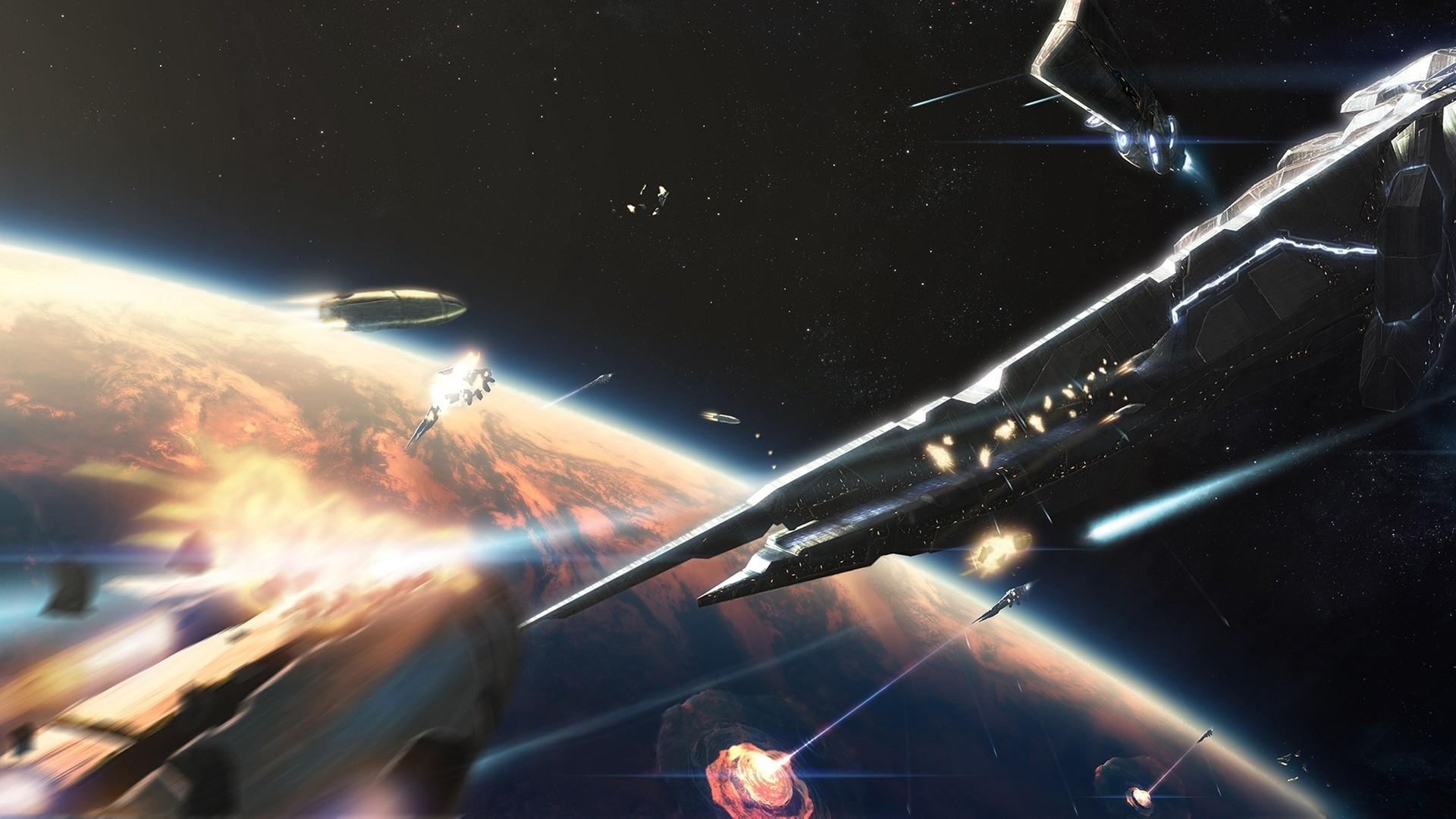 Space battle wallpaper 1920x1080