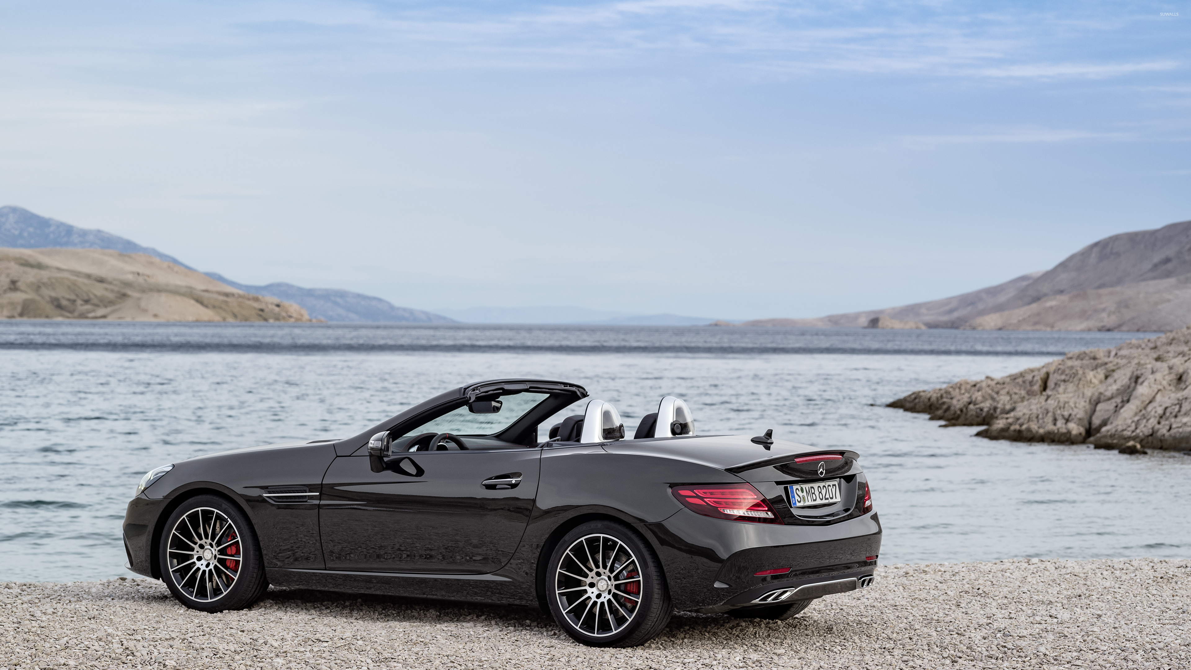 2017 Mercedes AMG SLC 43 back side view wallpaper   Car 3840x2160