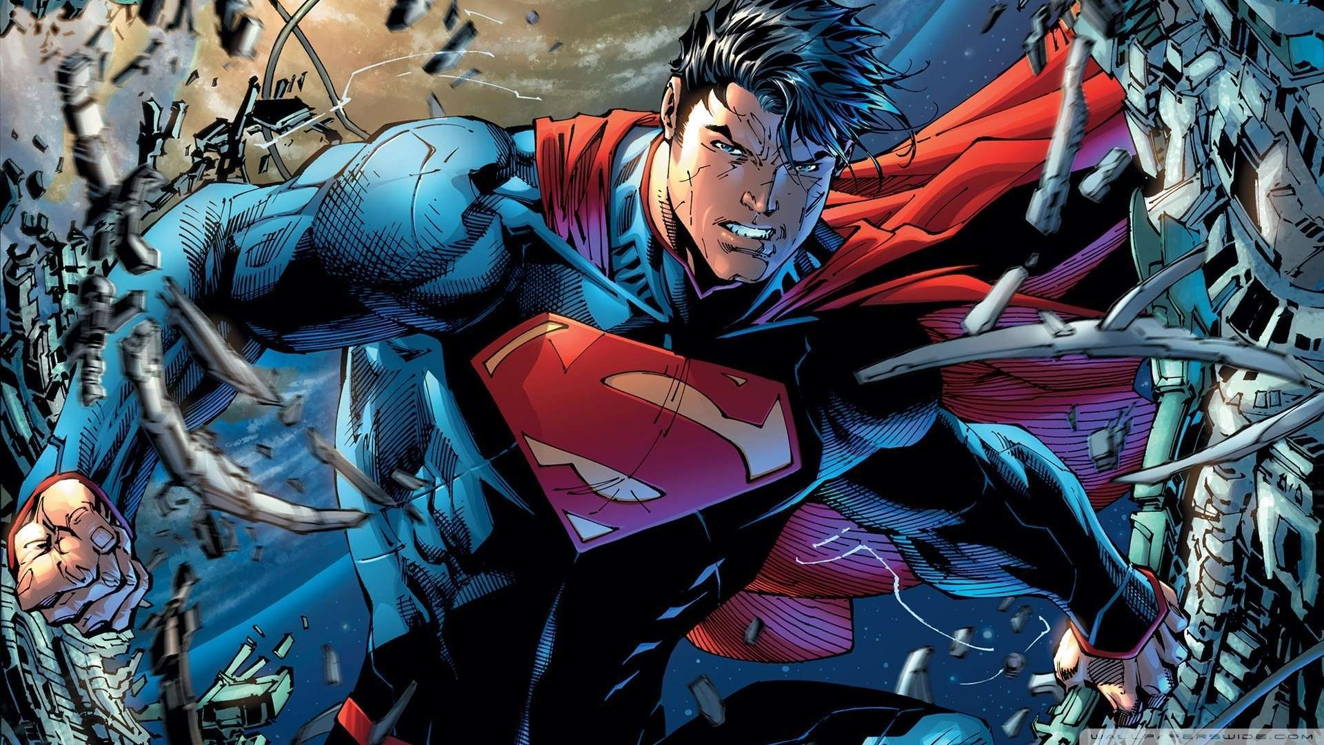 Wallpaper Superman Cartoon 2 Wallpaper 1080p HD Upload at January 2 1920x1080