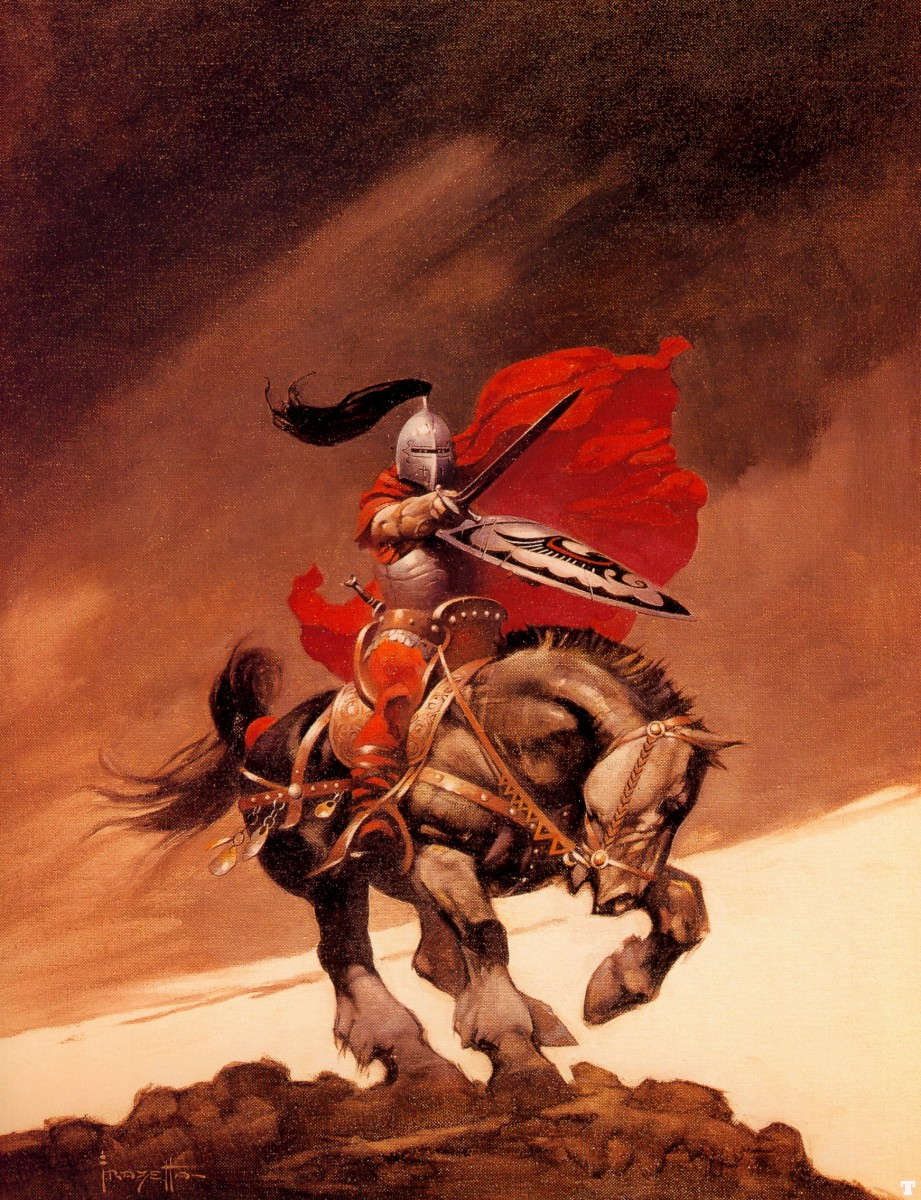 knights artwork frank frazetta HD Wallpaper of General 921x1200