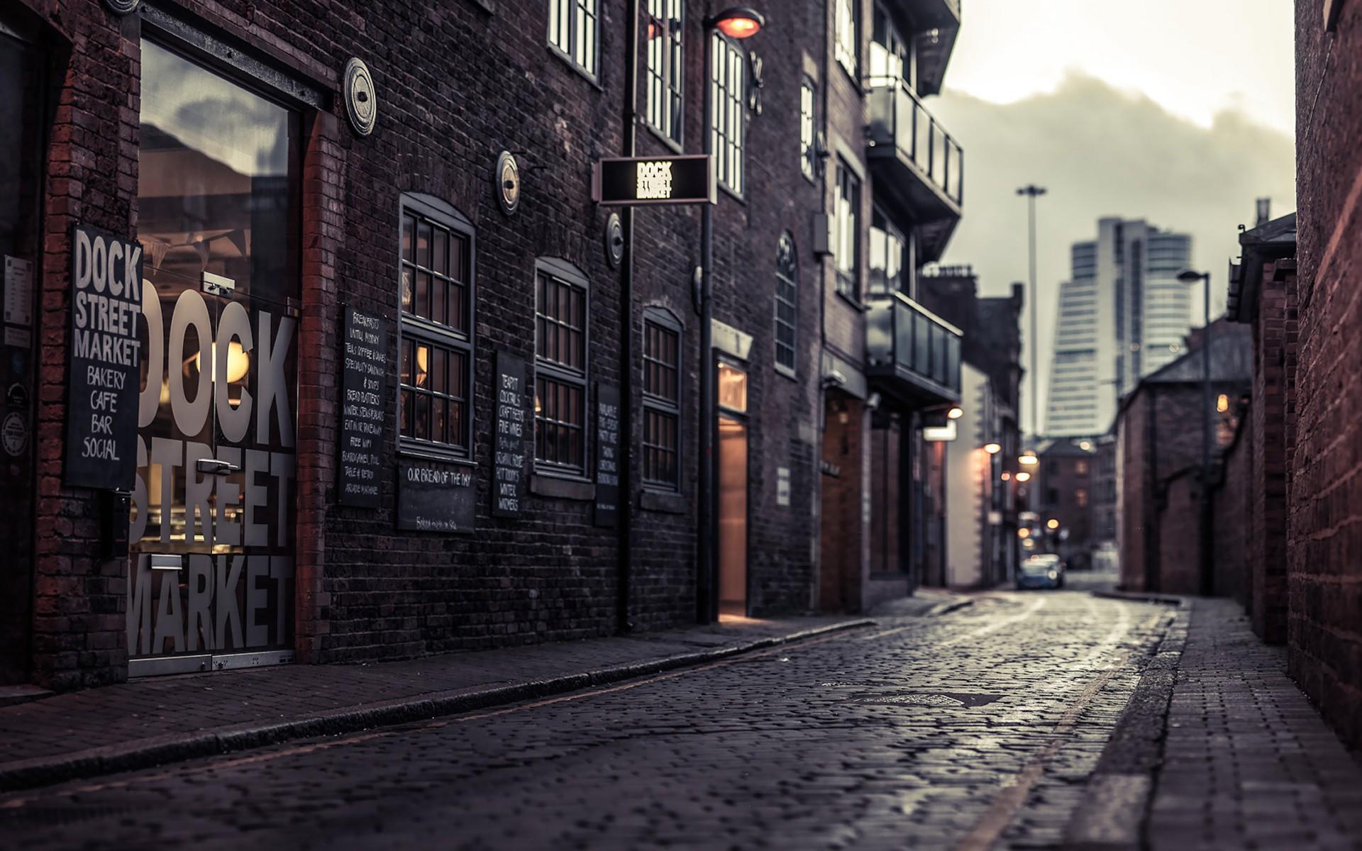 Old City Dock Street Market Wallpaper HD 1920x1200