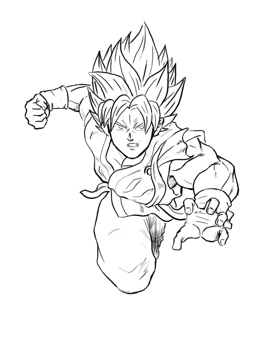 Goku SSGSS Time lapse by Axel2396 850x1106