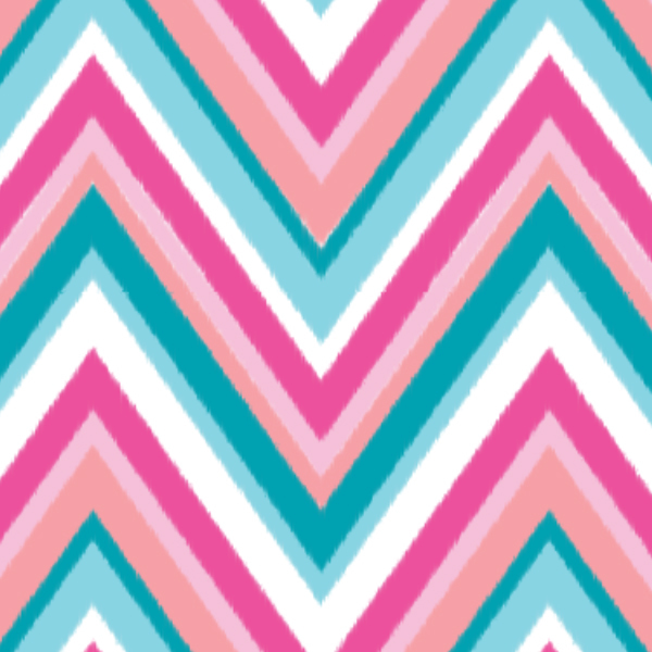 Blue And Pink Chevron Baby Bedding
