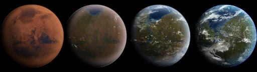 Terraforming Mars Dual Screen Wallpaper Ubuntu shack 512x144