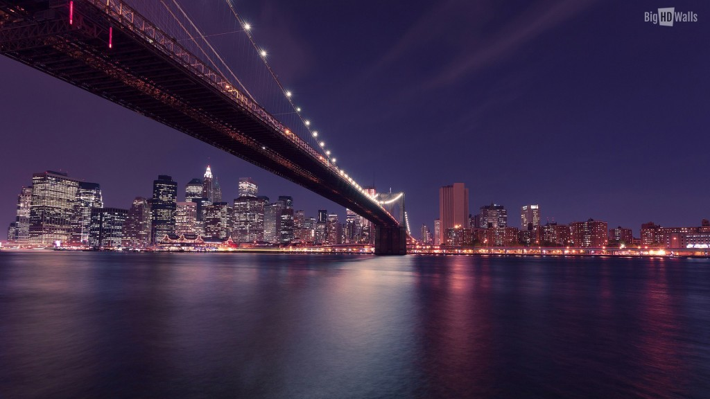 new york city skyline at night hd wallpaper click on image to enlarge 1024x576