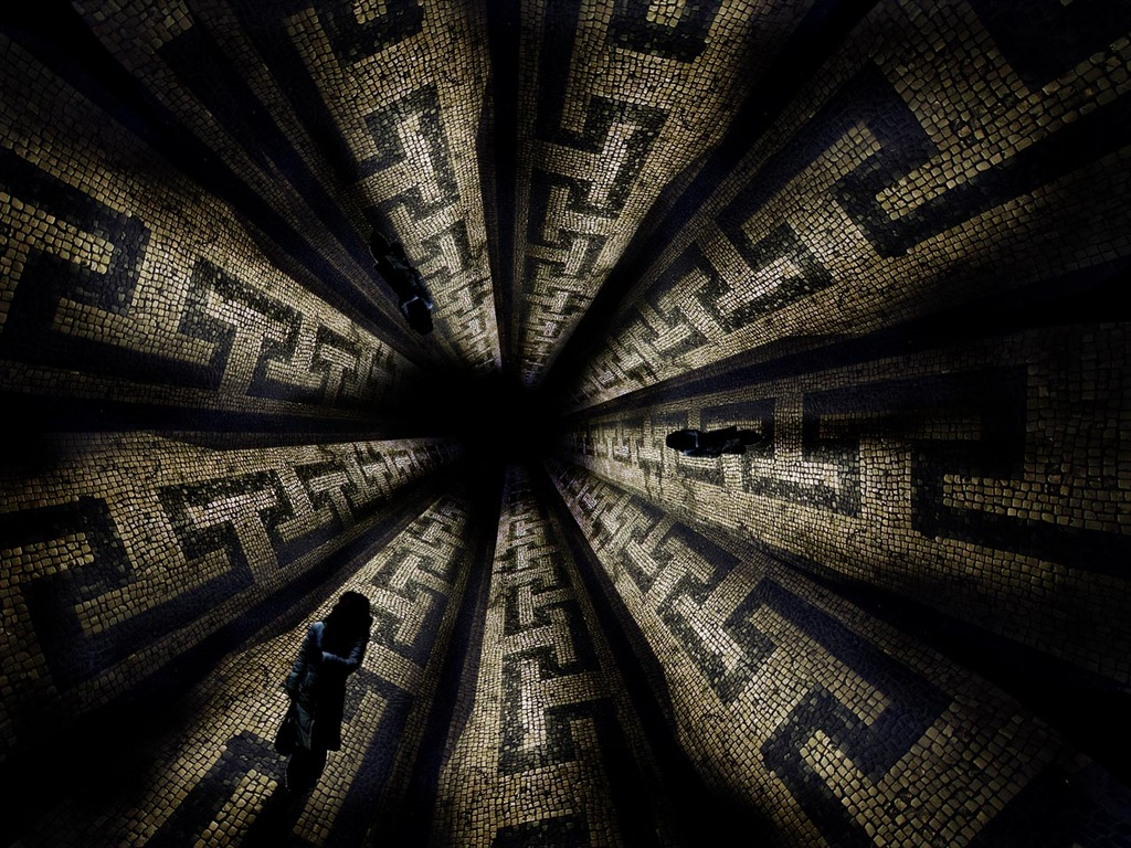 Wallpaper Abyss Dark 1024x768