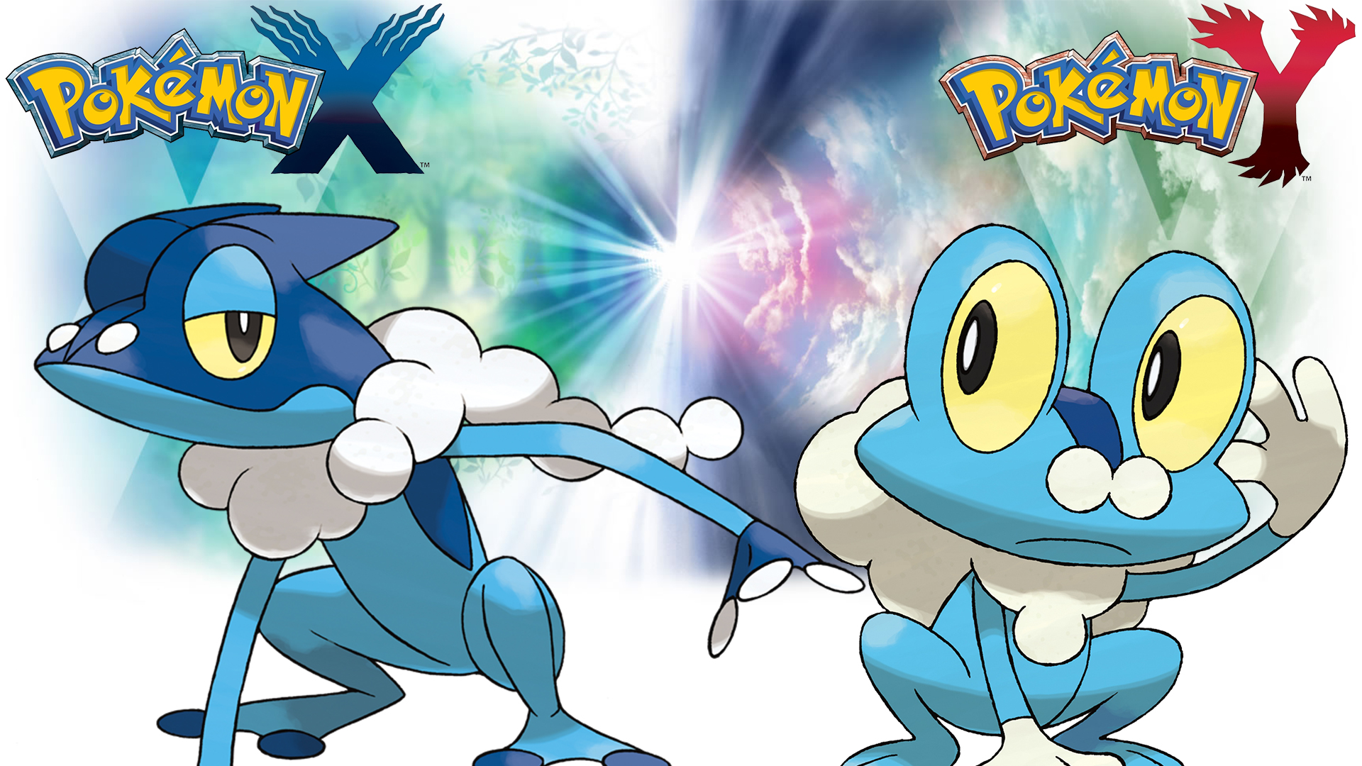 Pokemon X Y   Wallpaper   Froakie and Frogadier by Thelimomon on 1920x1080