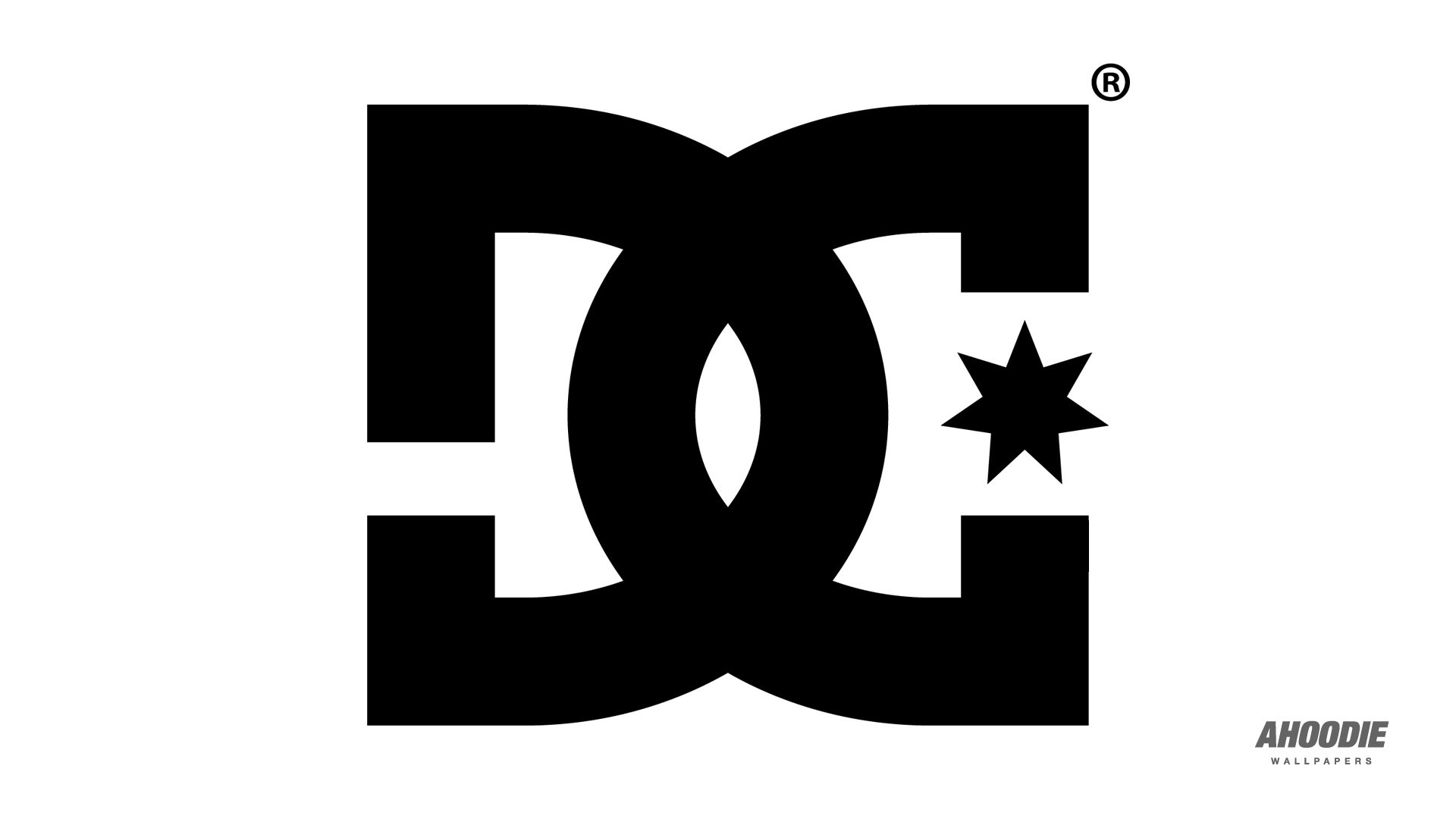 DC Shoes Black Logo White Wallpaper HD High Resolution 1920x1080