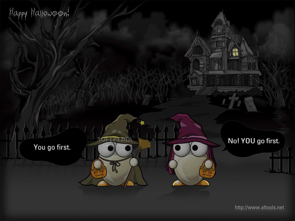 ALTools Spooky Haunted House Halloween Desktop Wallpaper 1png 1000x749