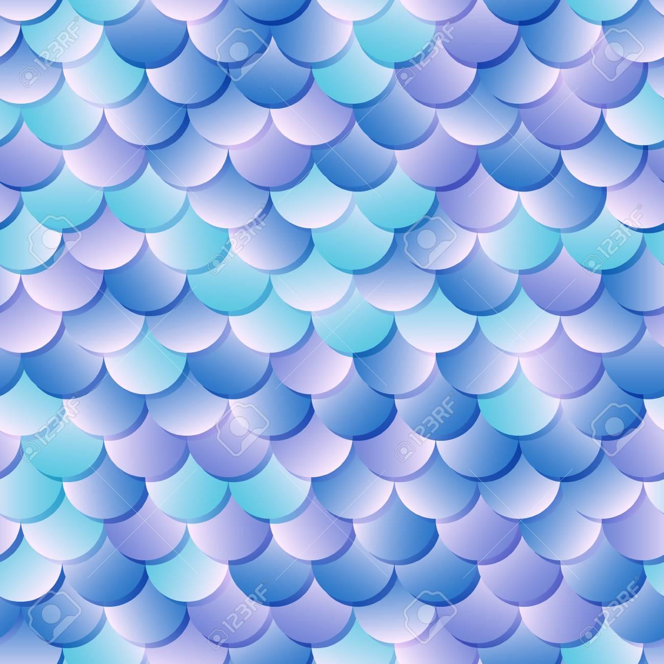 Free Download Mermaid Skin Seamless Pattern Fantastic Fish