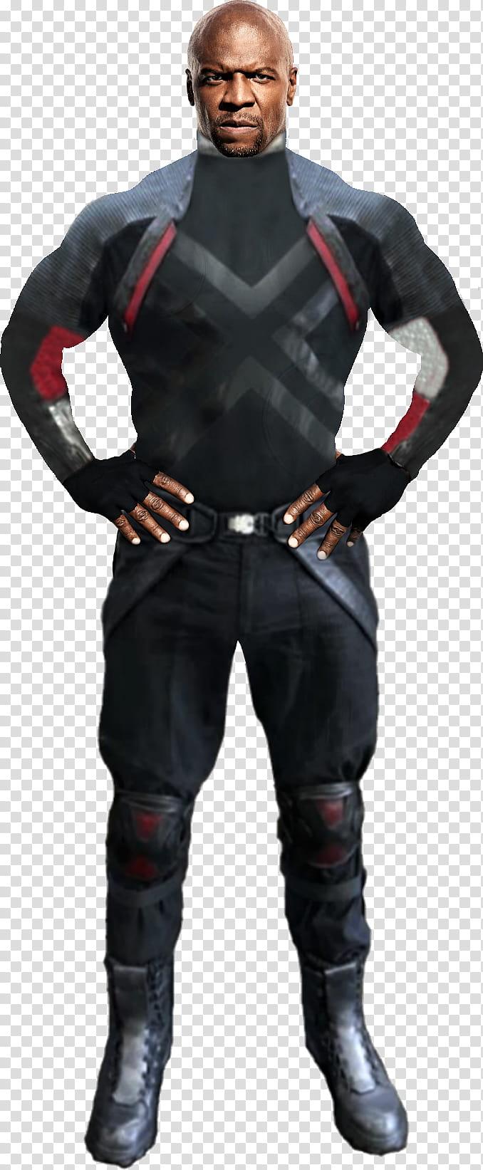 Deadpool Bedlam man in black suit transparent background PNG 678x1643