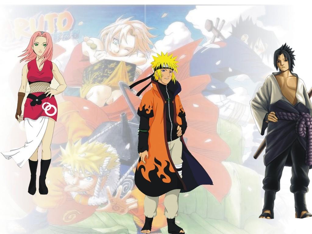 gambar naruto sasuke naruto hokage wallpaper 1024x768