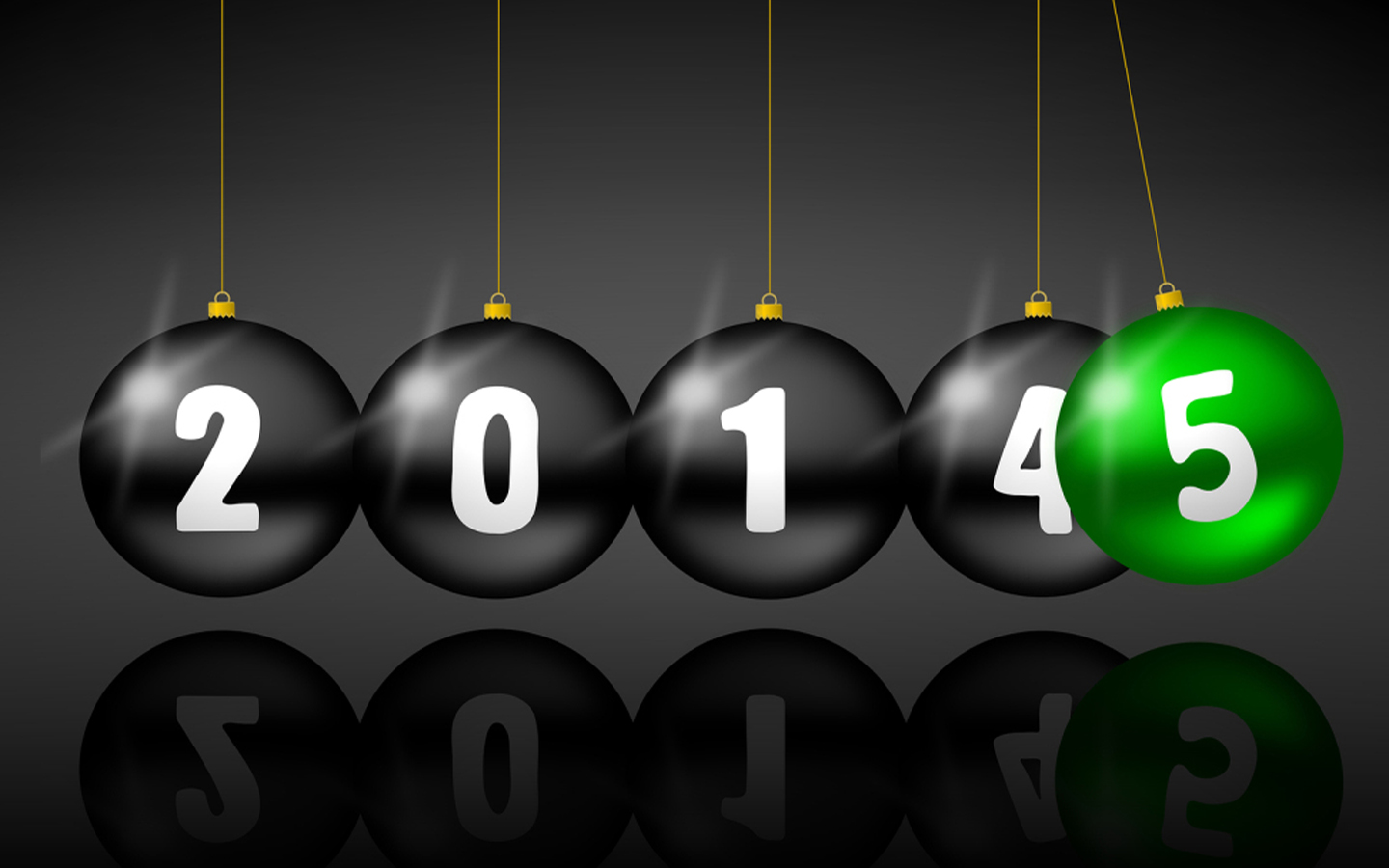 3D Ball Happy New Year 2015 Wallpaper Picture 7299231   Ongur 1440x900