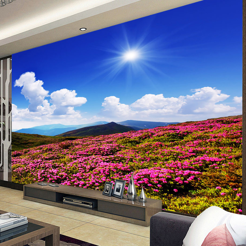 Custom 3D Photo Wallpaper Scenery For Walls Flowers Everywhere On 824x824