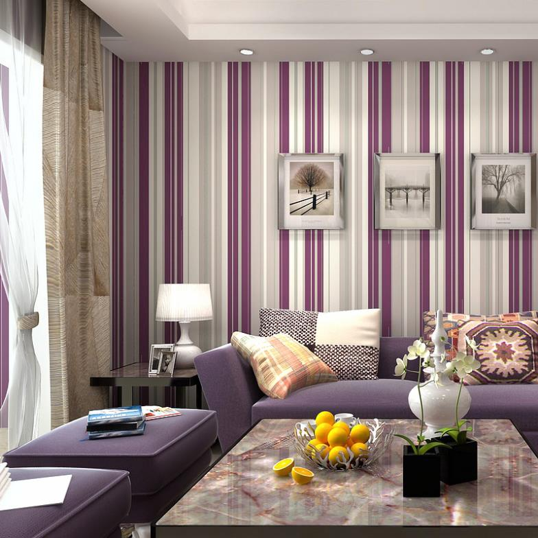 Purple Room Wallpaper WallpaperSafari. Living Rooms Part 19