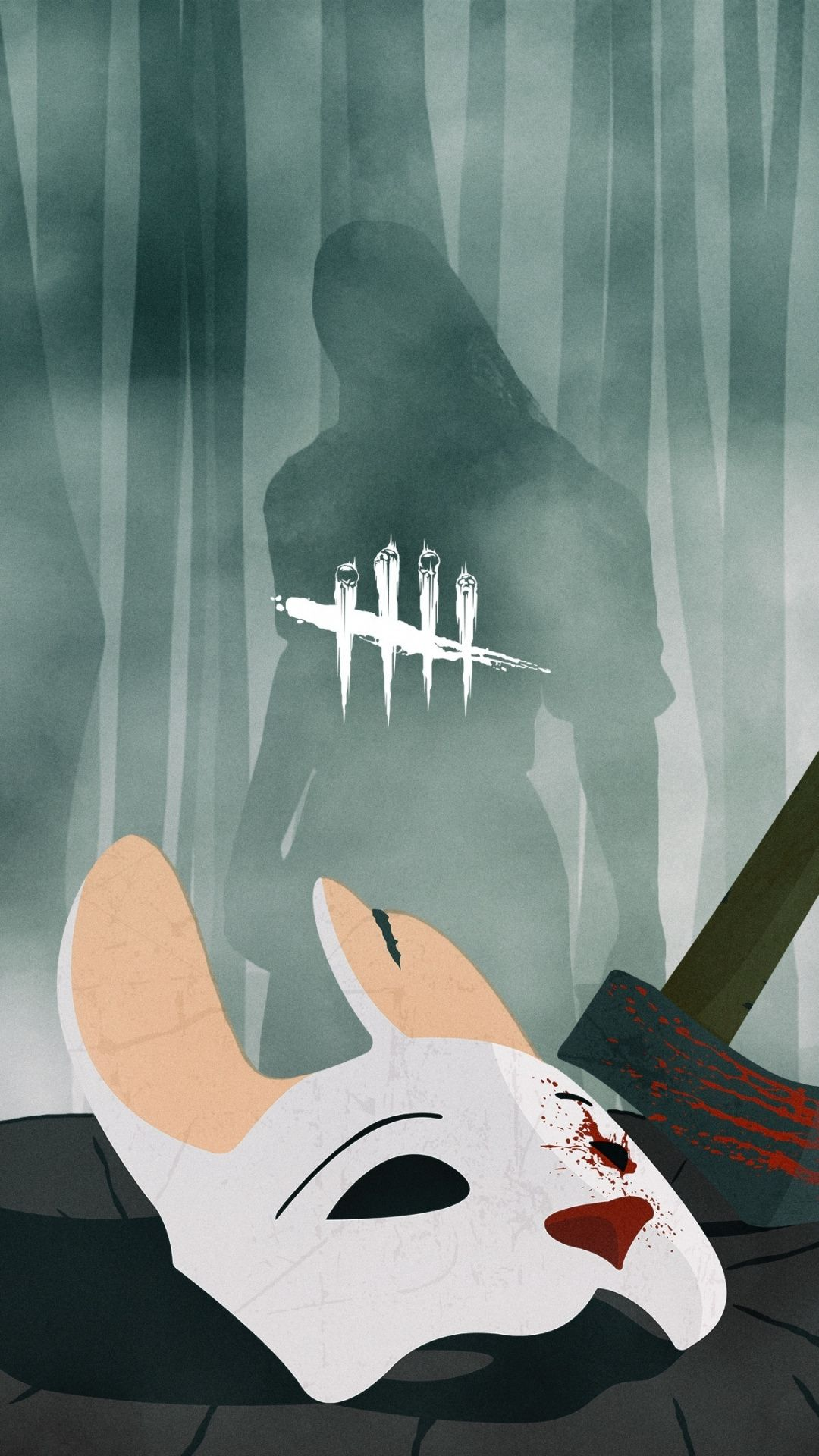 Huntress Dead by Daylight mask and axe game 1080x1920 1080x1920