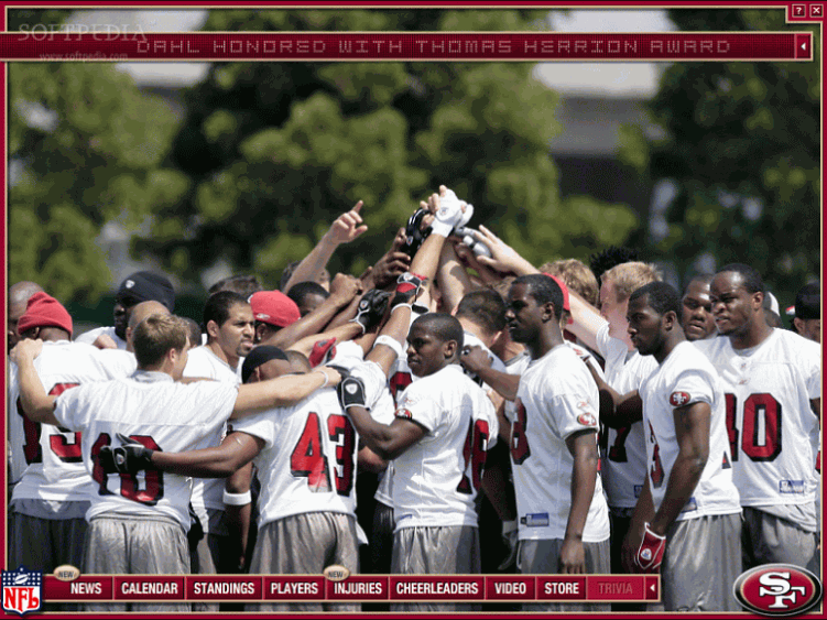 Screenshot 3 of San Francisco 49ers screensaver 751x563
