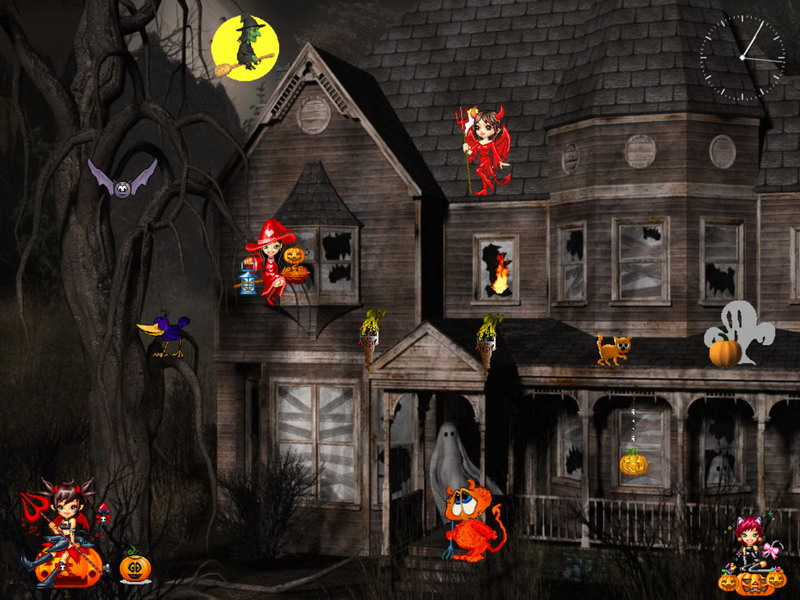 wwwventubecomcreepy town of halloween wallpapers screensavers 800x600