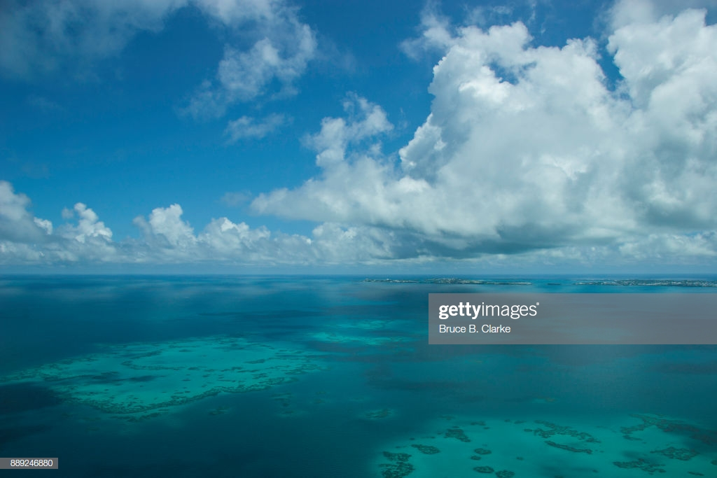 Coral Reef With The Island Of Bermuda In Background Stock Photo 1024x683