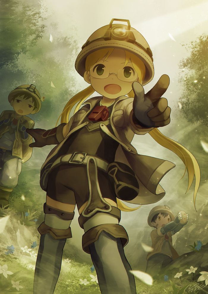 Nat Riko y Reg Made in Abyss Abyss anime Anime Anime art 700x990