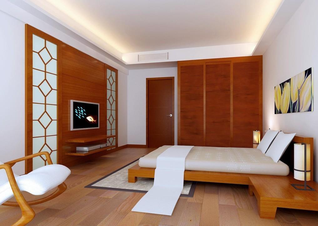 Wood Flooring Wardrobe Bedroom Design Hd Wallpaper   Simple Master 1017x724