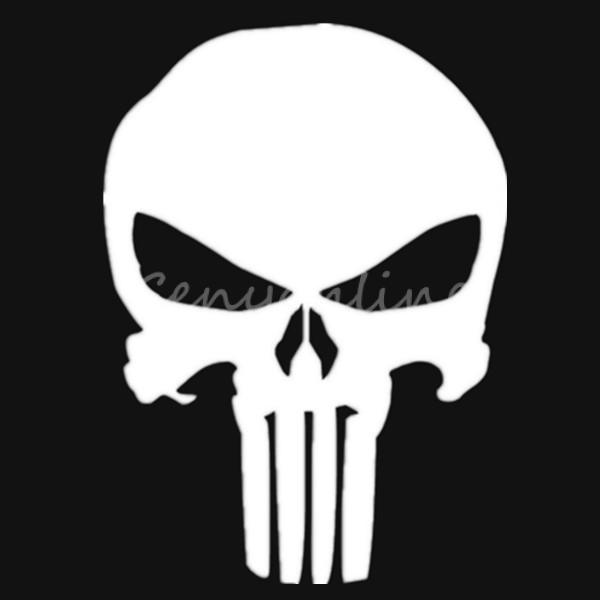 New 10x14cm Fashion Chic Vinyl Decal Skull The Punisher Marvel Comics 600x600