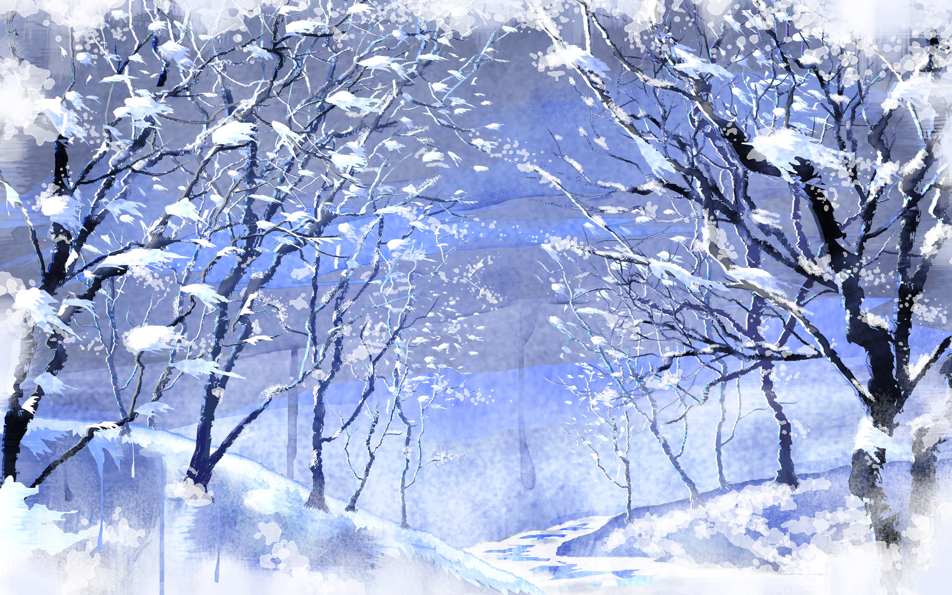 Winter Scene Wallpaper Winter Scene Computer Wallpaper 1920x1200