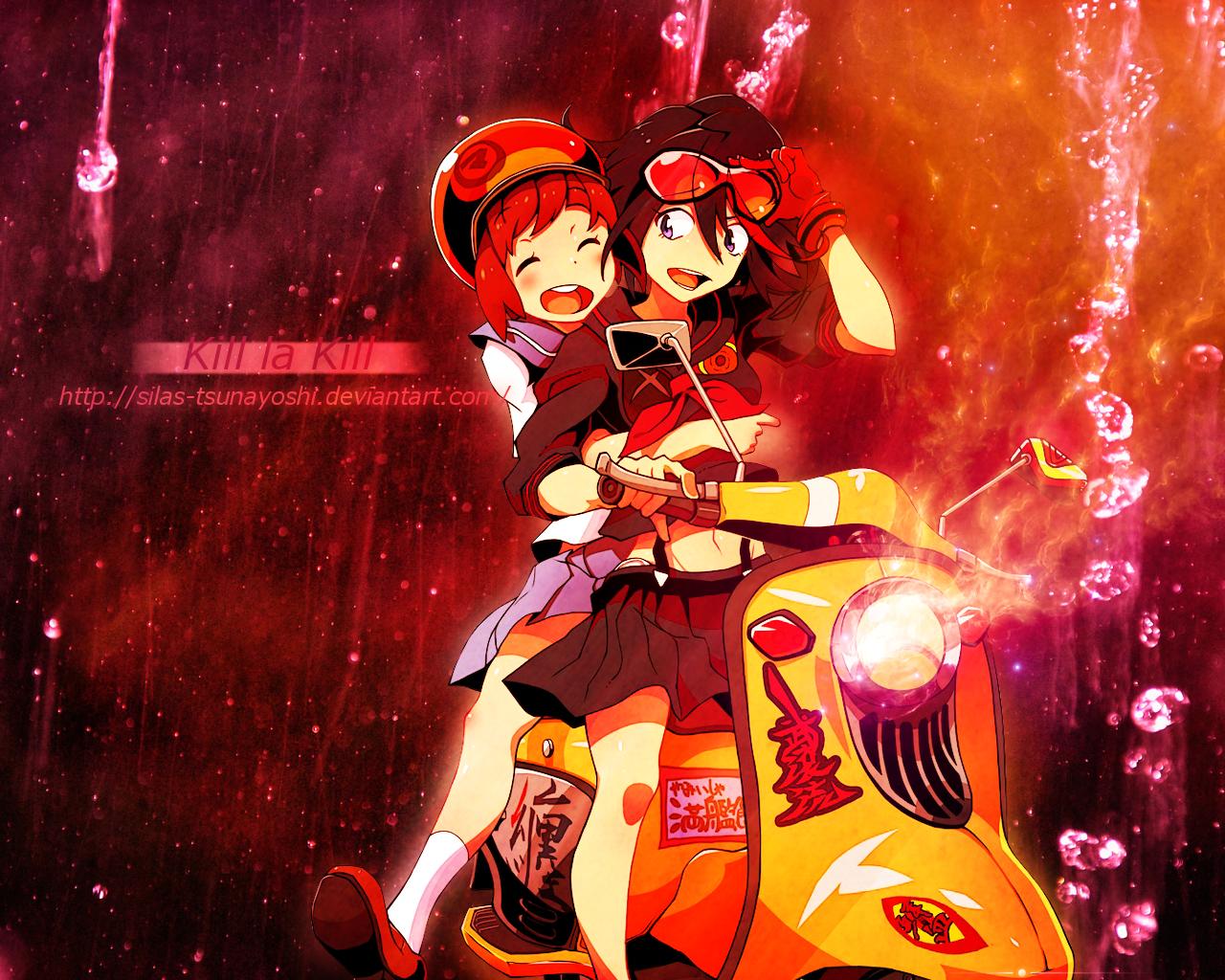 Kill la Kill Ryuko and Mako   WALLPAPER by Silas Tsunayoshi on 1280x1024