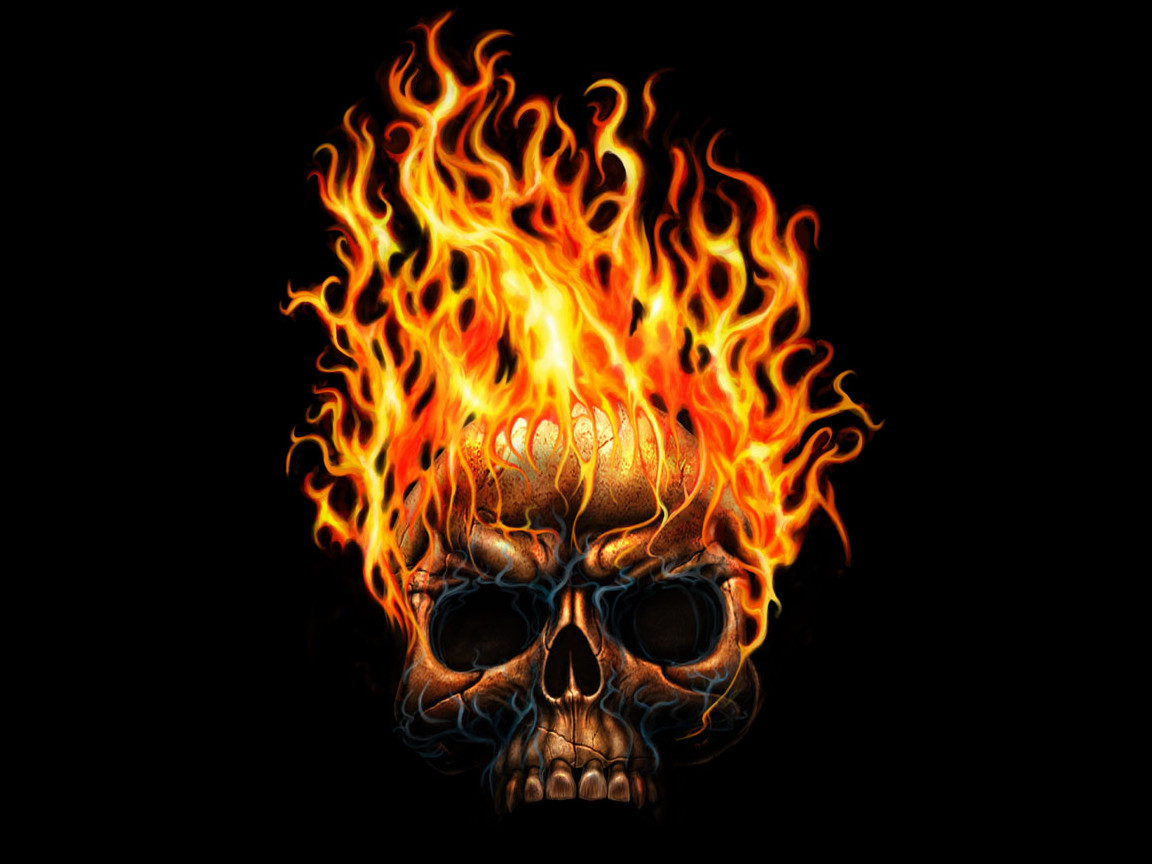 Flaming skull computer wallpaper cute Wallpapers 1152x864