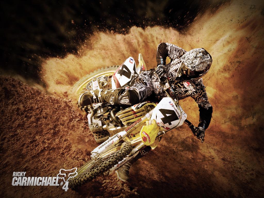 Group Of Cool Dirt Bike Fox Wallpaper