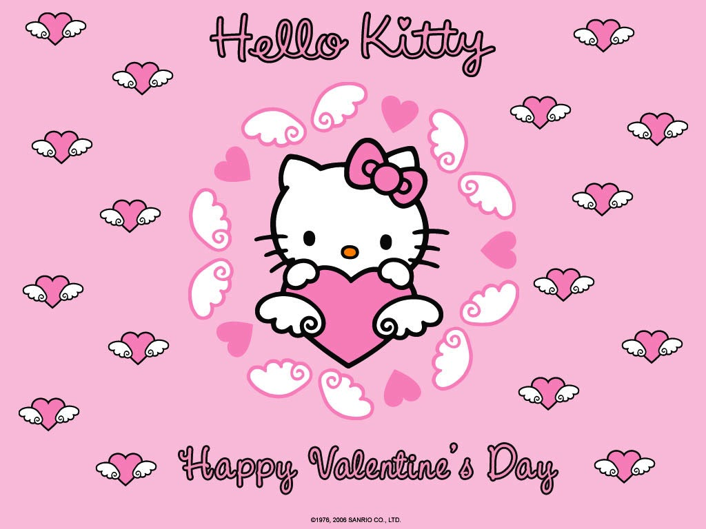 Mimmy and Hello Kitty Wallpaper Hello Kitty Valentines Day 1024x768