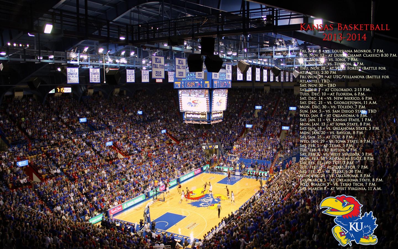 Ku Jayhawks Basketball Wallpaper Ku half court 1440x900