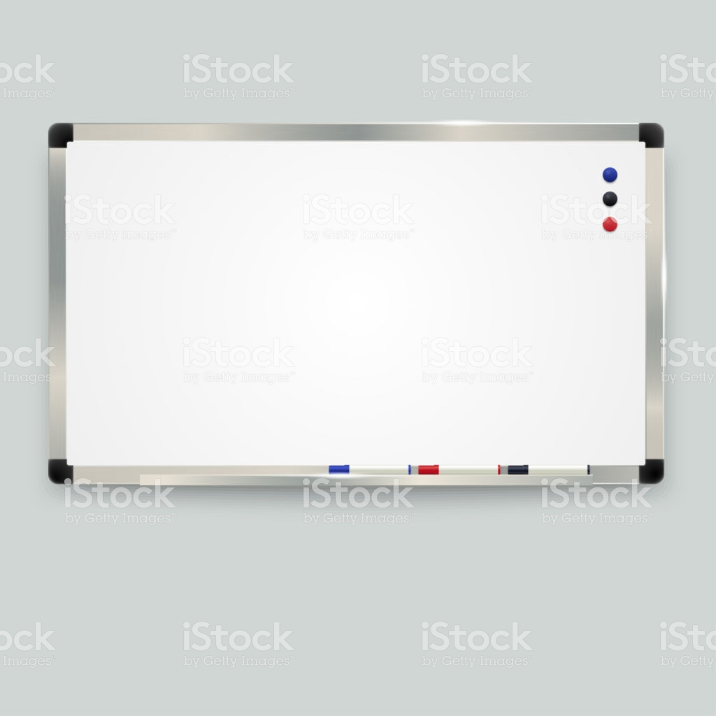 Empty Whiteboard With Color Markers And Magnetic Whiteboard 1024x1024
