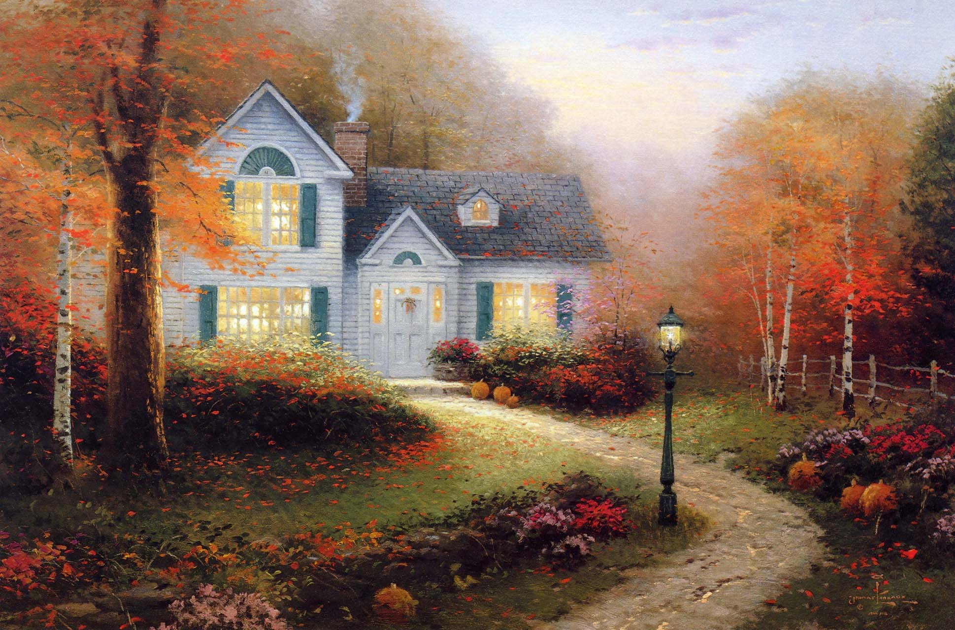 Thomas Kinkade Christmas Cottage