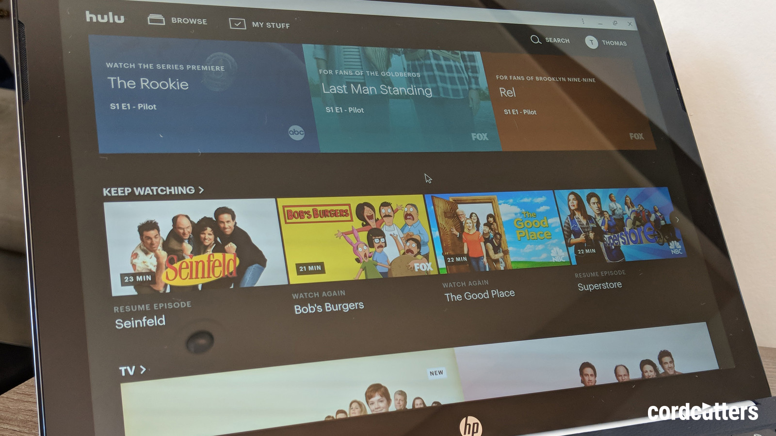 How to enable dark mode for Hulu CordCutters 1600x900