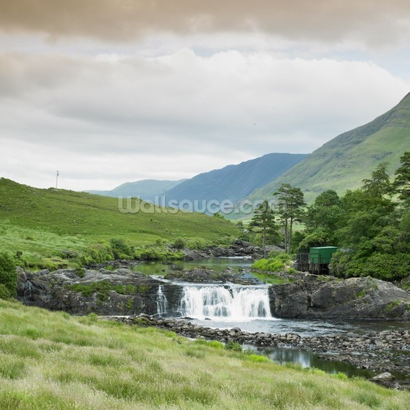 Aasleagh Falls Galway Wall Mural Aasleagh Falls Galway Wallpaper 588x588