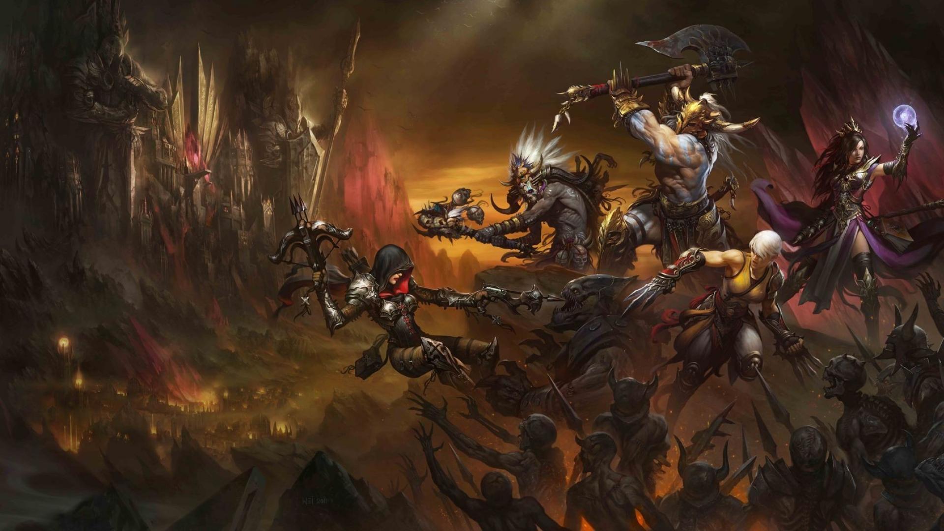 Free Download Demon Hunter Diablo Iii Barbarian Blizzard Wallpaper