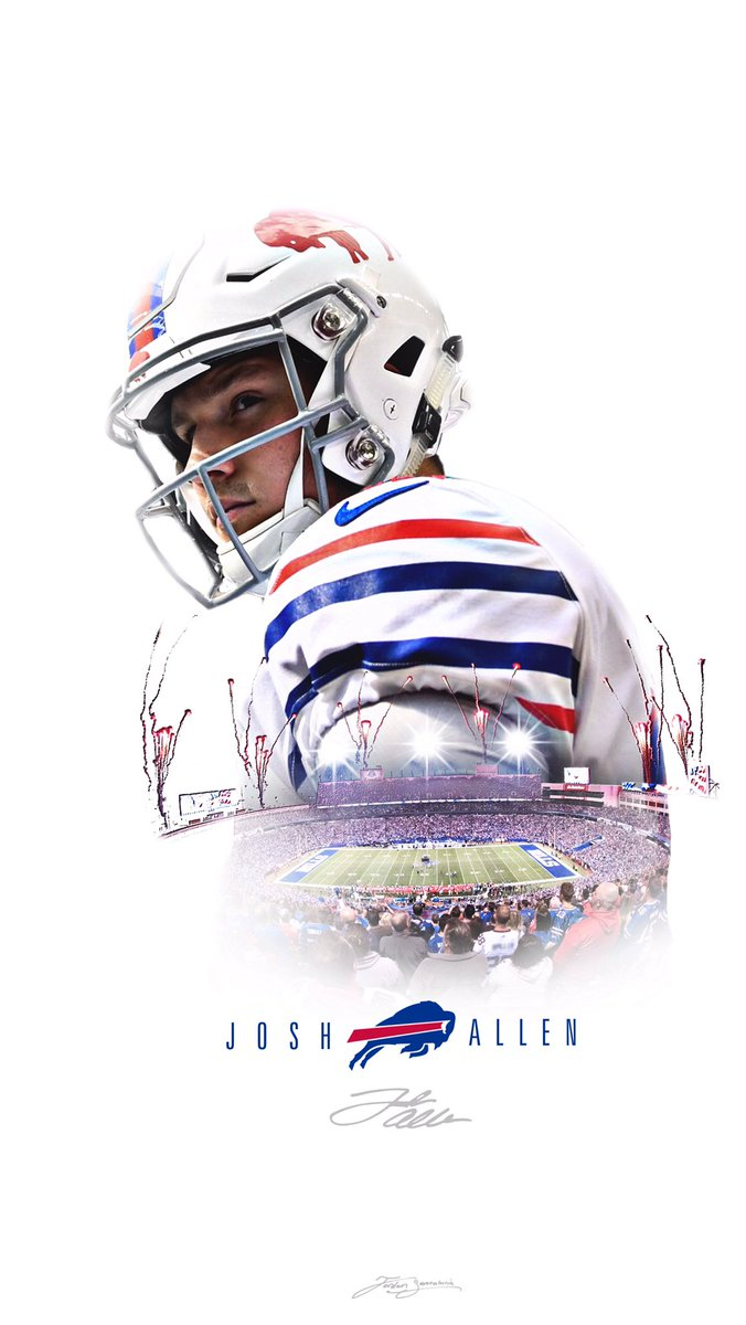 Jordan Santalucia on Twitter Buffalo Bills Josh Allen wallpaper 676x1200